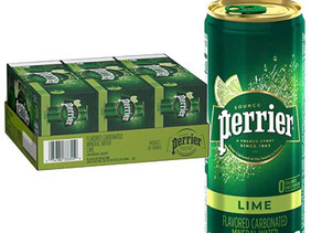 Perrier Carbonated Mineral Water (Lime) 8.45 oz X 30-pack $9.52 << $15.87