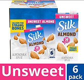 Silk Almond Milk 32 oz X 6-pack $10.02 ($1.67/ea)