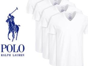 Polo Ralph Lauren 남성용 V넥 티셔츠 4팩 $17불 (<<$42불) / Macy's 플래쉬 세일[7/24일 하루!]