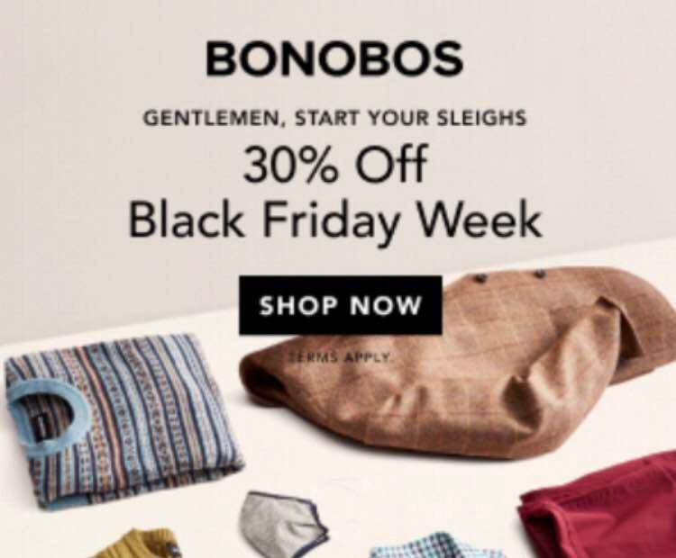 Bonobos Black Friday Sale- Men's Clothing
