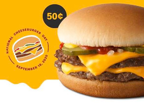 McDonalds Double Cheeseburger for just $.50 ( Only Today 9/18)
