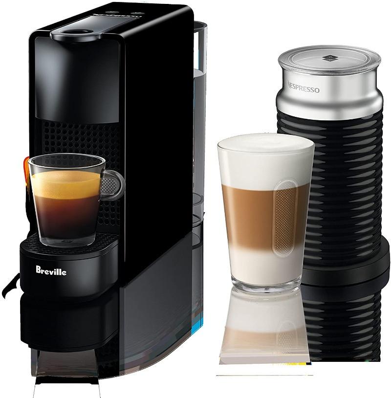 Breville-Nespresso Essenza Mini Expresso Machine w/ Aeroccino