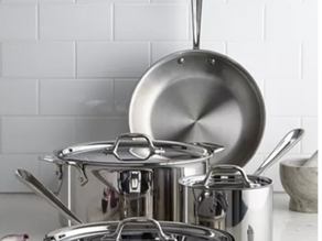 All-Clad Stainless Steel 7-Pc. Cookware Set $299.99 << $839.99