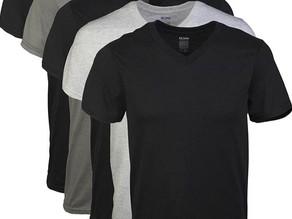 Gildan Men's V-Neck T-Shirts, 5-Pk $15.97
