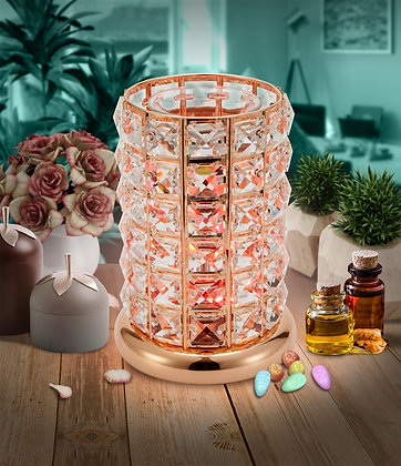Rose Gold Crystal Colour Changing Wax & Oil Burner