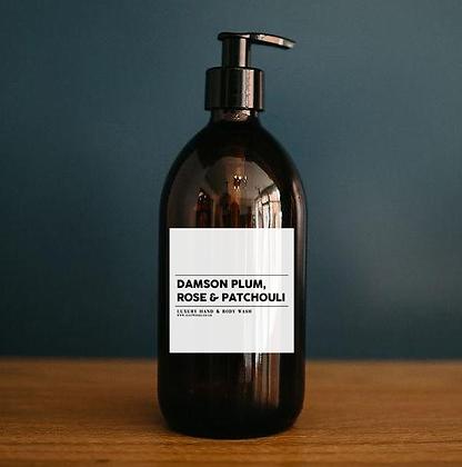 Damson Plum, Rose & Patchouli - Luxury Hand & Body Wash (500ml)