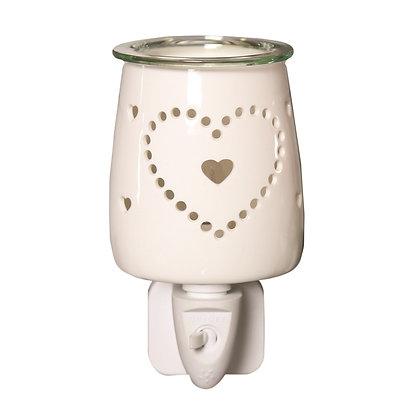 Ceramic Heart - Plug In Burner