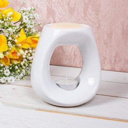 White Oval Burner