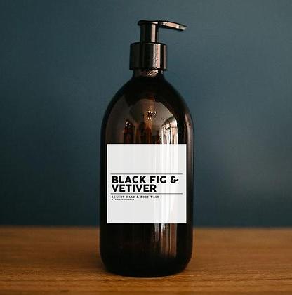 Black Fig & Vetiver - Luxury Hand & Body Wash (500ml)