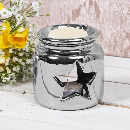 Medium Silver Star Jar Burner