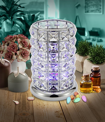 Silver Crystal Colour Changing Wax & Oil Burner