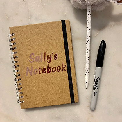 A6 Personalised Notebook