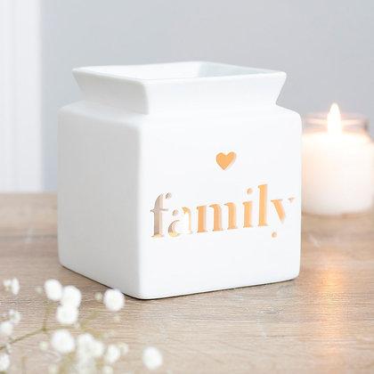 White Family Tealight Burner