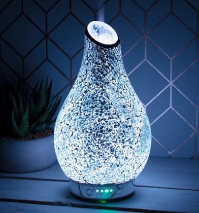 Silver Mosaic Colour Changing Ultrasonic Diffuser