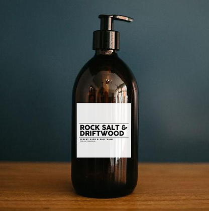 Rock Salt & Driftwood - Luxury Hand & Body Wash (500ml)