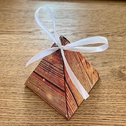 Pyramid Gift Box - Rhubarb