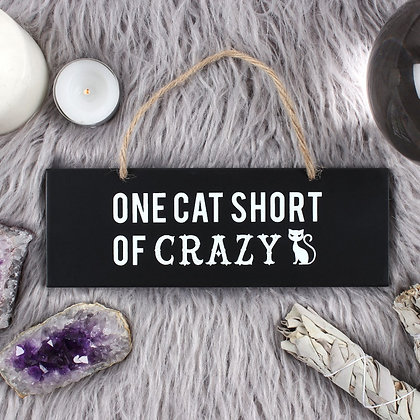 One Cat Short Sign