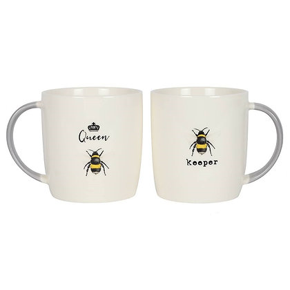 Queen Bee & Bee Keeper Mug Gift Set