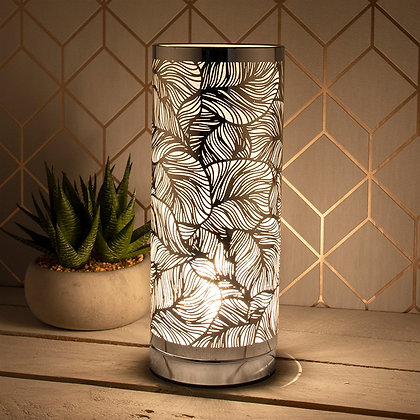 Silver Leaves - Slim Touch Sensitive Aroma Lamp