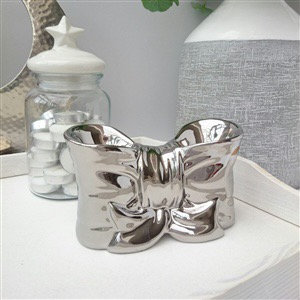 Silver Bow Tealight Burner