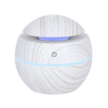 White/Grey Grain Small Round Colour Changing Ultrasonic Diffuser