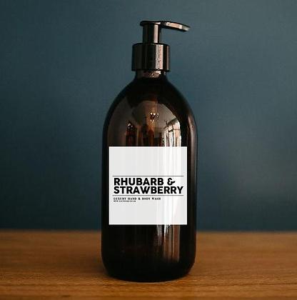 Rhubarb & Strawberry - Luxury Hand & Body Wash (500ml)