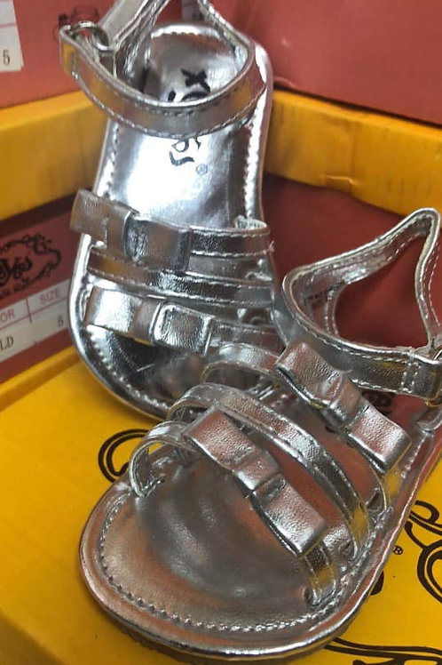 Silver 3 strapped sandals