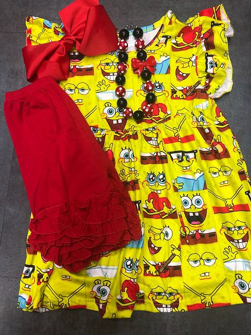Sponge Bob Square Pants Girls Two Piece Set