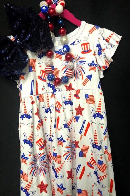 Patriotic Unicorn Dress