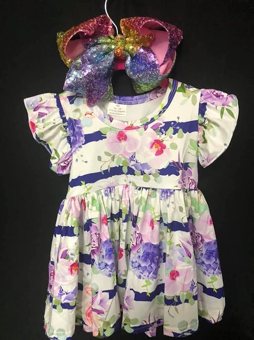 Striped flower dress