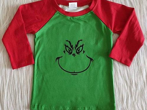Grinch face shirt