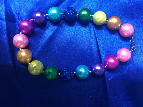 Rainbow Big Chunky Girls Necklace