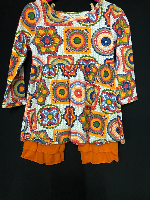 Paisley design pants set