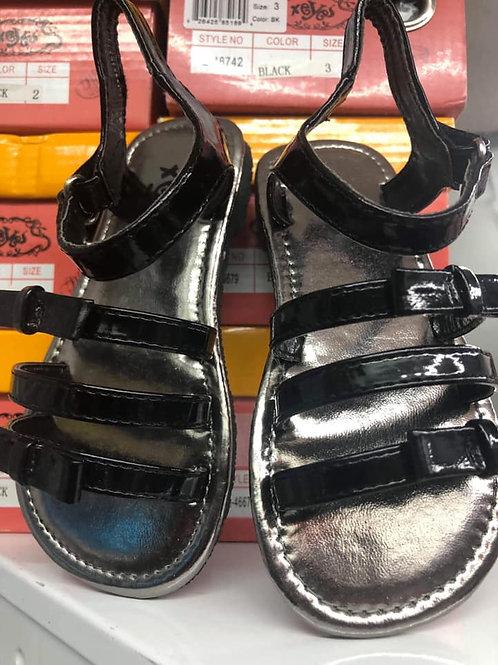 Black 3 Straped Sandals