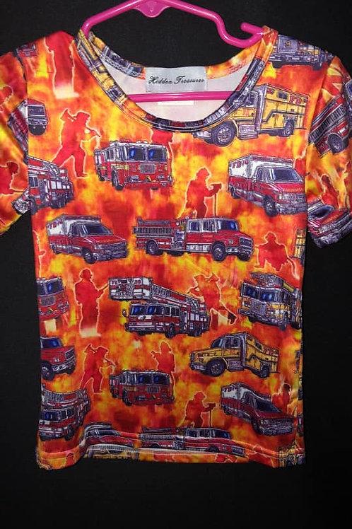 Boys Firetruck Shirt