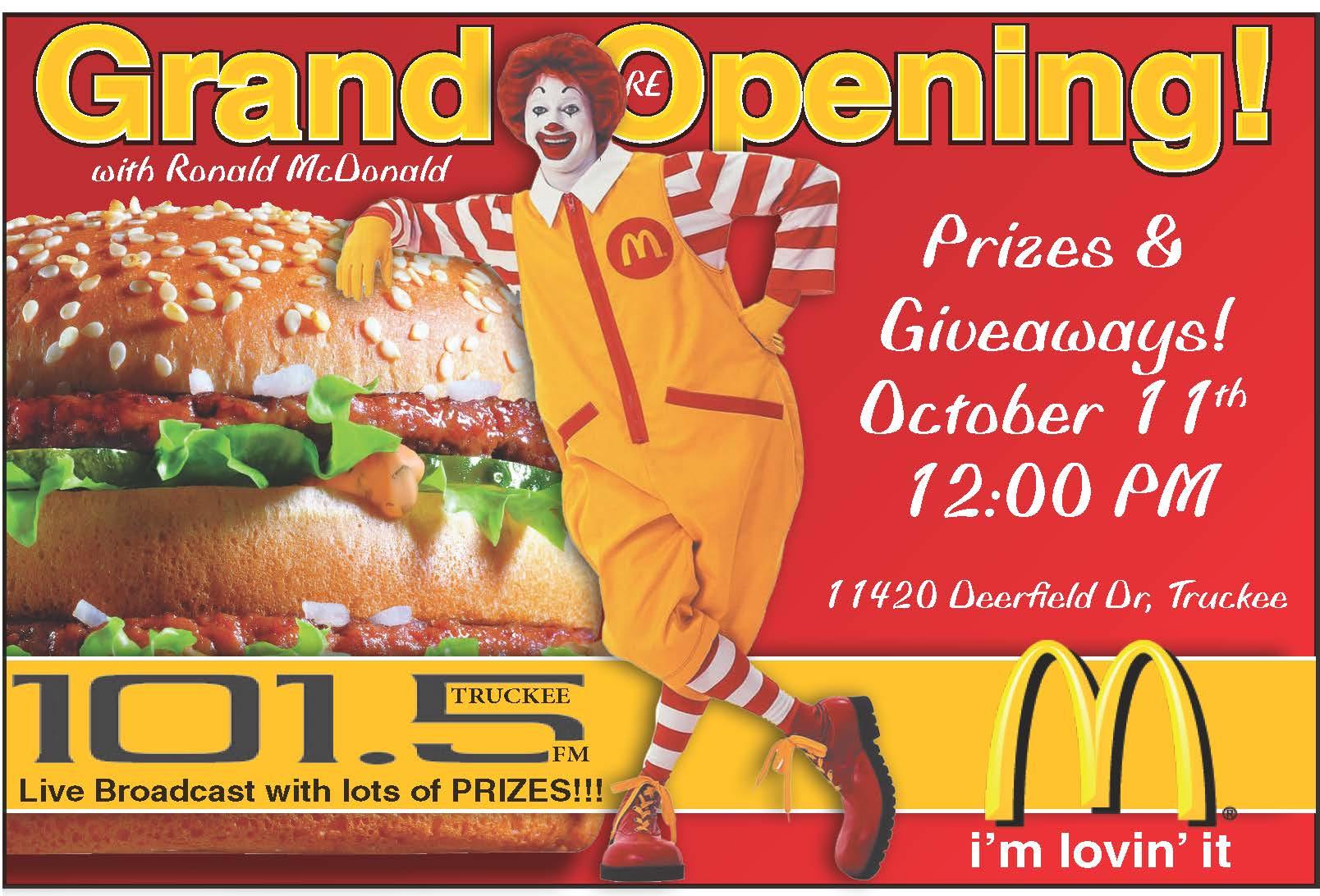 McDonalds Truckee