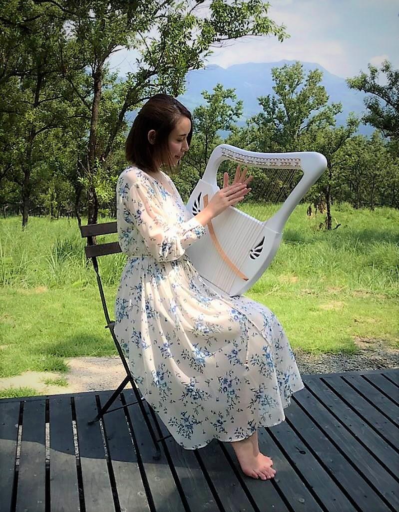 九州のライアー奏者 九州の竪琴奏者 森英子