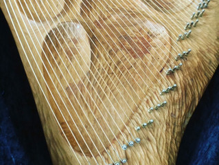ライアーの弦のクリーニングの仕方(楽器の普段のお手入れ・メンテナンスについて ②)
