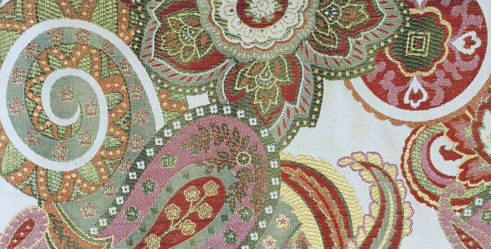 Pink Green Red Blue Paisley