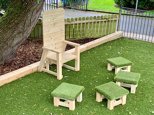 Story Telling Chair and Grass Topped Seating