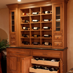 Customized wine cabinetry