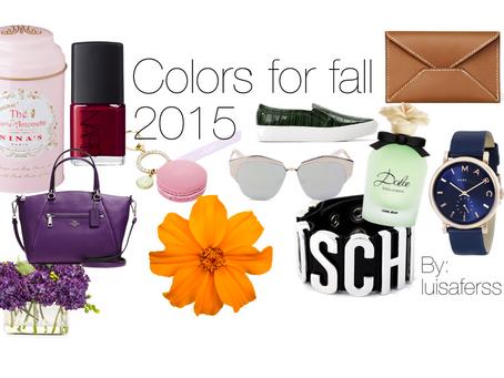 """Colores del Otoño 2015 """"Pantone Fashion Color Report"""" & LF"""