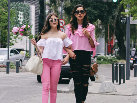 #StreetStyle: Brunching in PINK drinking Rosé.