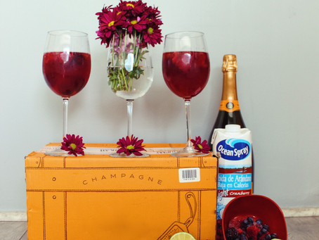 #TheFoodieModelRecipe: Sparkling Cranberry Cocktail.