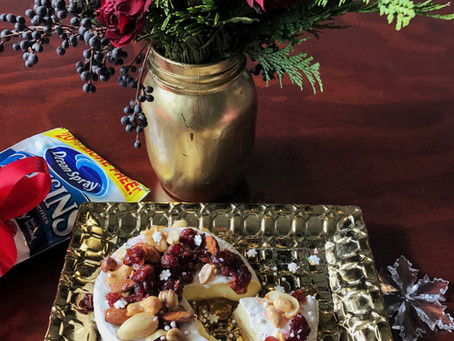#TheFoodieModelRecipe: Botana Navideña con Queso Brie + Cranberries