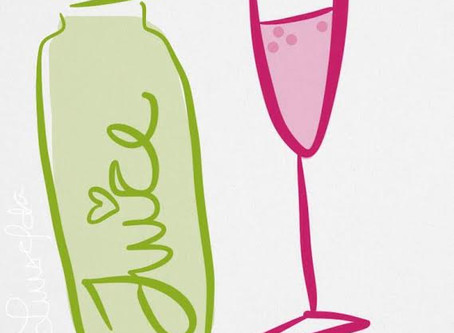 """""""Green juice now, champagne later"""""""