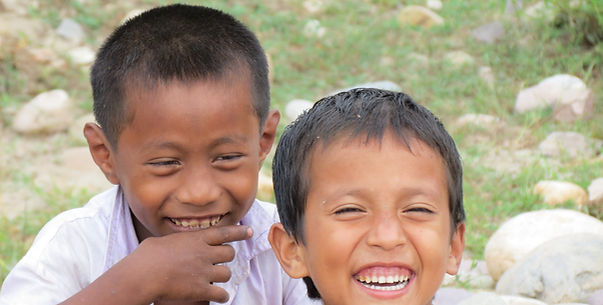School kids in a remote Indian village