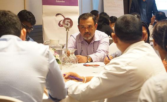 Devdarshan conduting a narrative design workshop