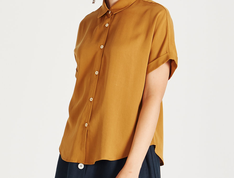 GIVN Bluse Sarah Rubber Brown