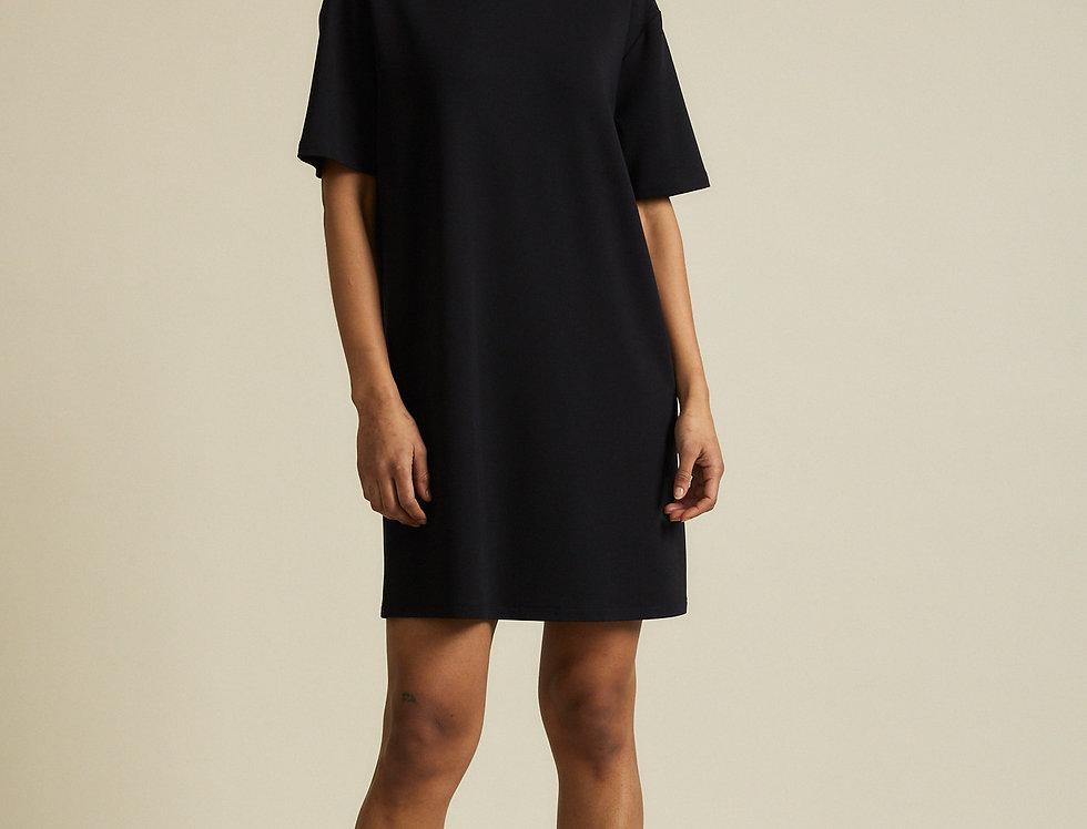 LANIUS Kleid mit Rückenausschnitt black blue